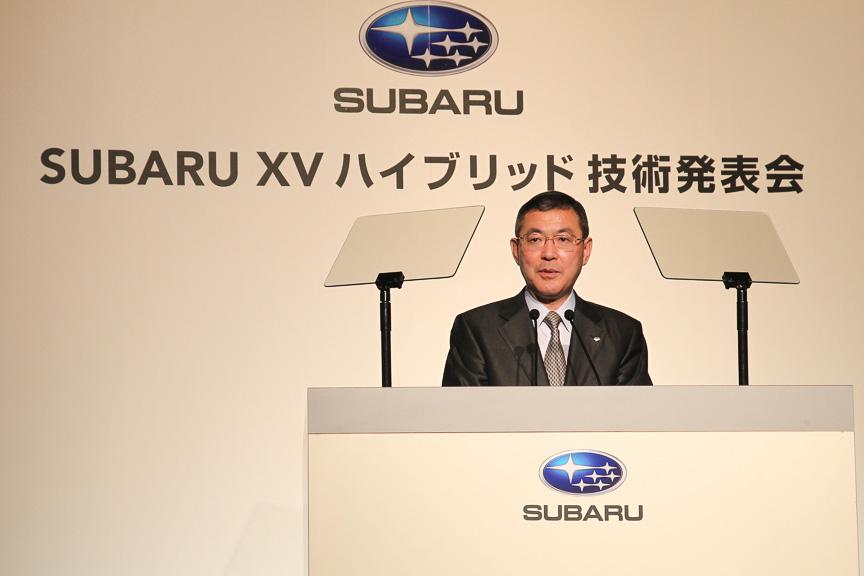 富士重工業 代表取締役社長 吉永泰之氏