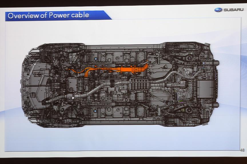 高電圧ケーブルの配置