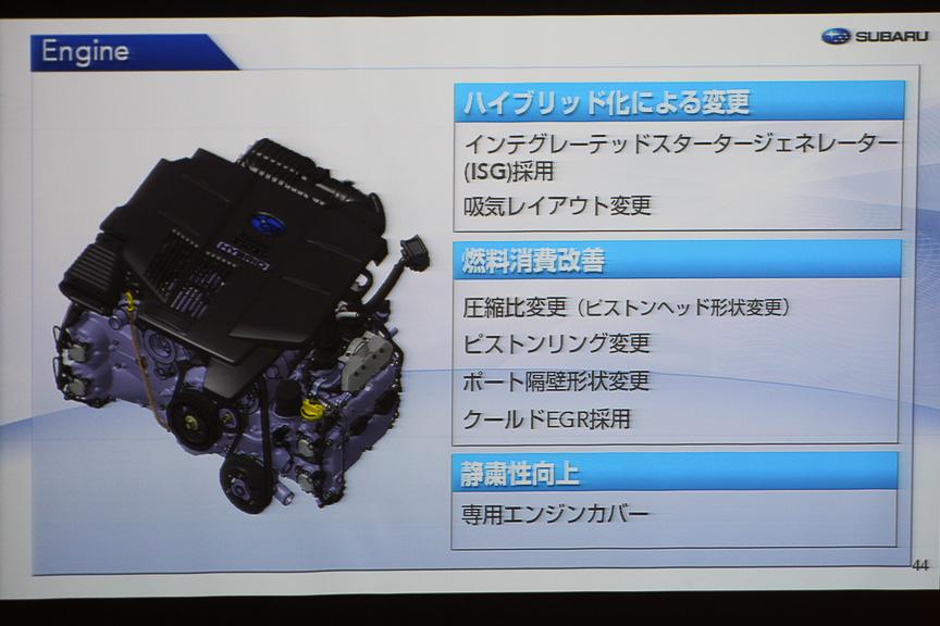 エンジンの変更点