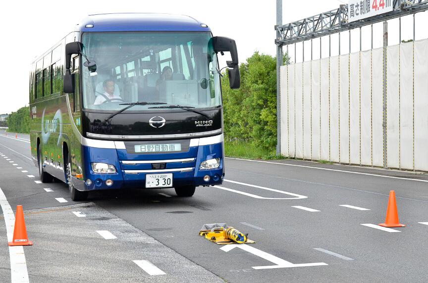 バスでも同様にデモが行われた