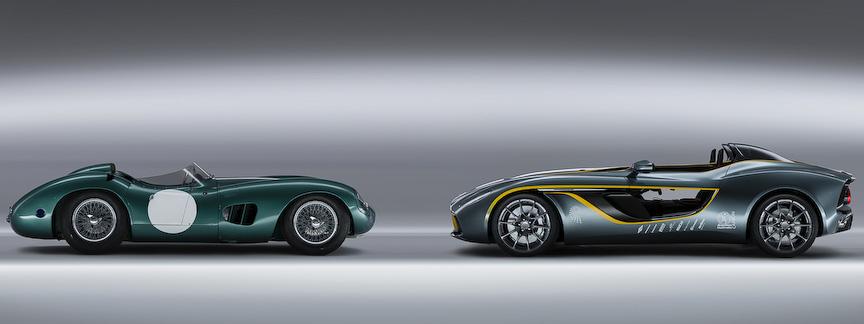 100周年を記念するコンセプトカー「CC100スピードスター・コンセプト」(右)