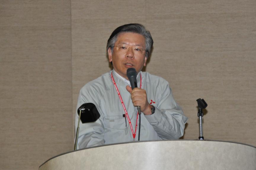 三菱自動車工業 常務取締役 相川哲朗氏