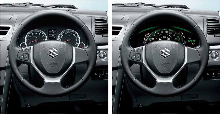 メーターパネルはタコメーターを持つ2眼式、中央に大型のスピードメーターを設置する1眼式の2バージョン
