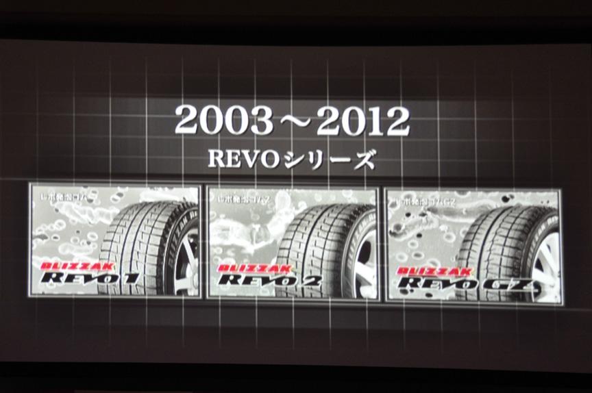 高速性能も手に入れたREVOシリーズ。REVO 2とGZは現行の主力スタッドレス製品