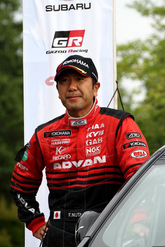 全日本ラリーで総合優勝を飾った奴田原文雄選手