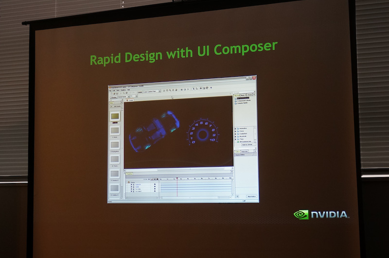NVIDIAのUI Composerを利用すると、自動車メーカーはユーザーインターフェイスを容易に設計することができる