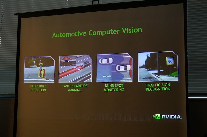 NVIDIAではTegraの高い処理能力をアクティブセーフティへと活用しようと検討を進めている