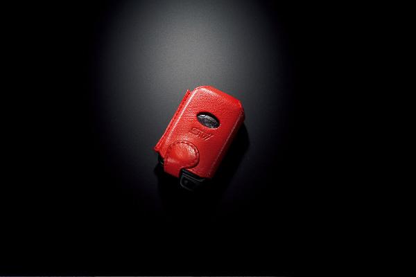 STI製本革アクセスキーカバー(赤色)