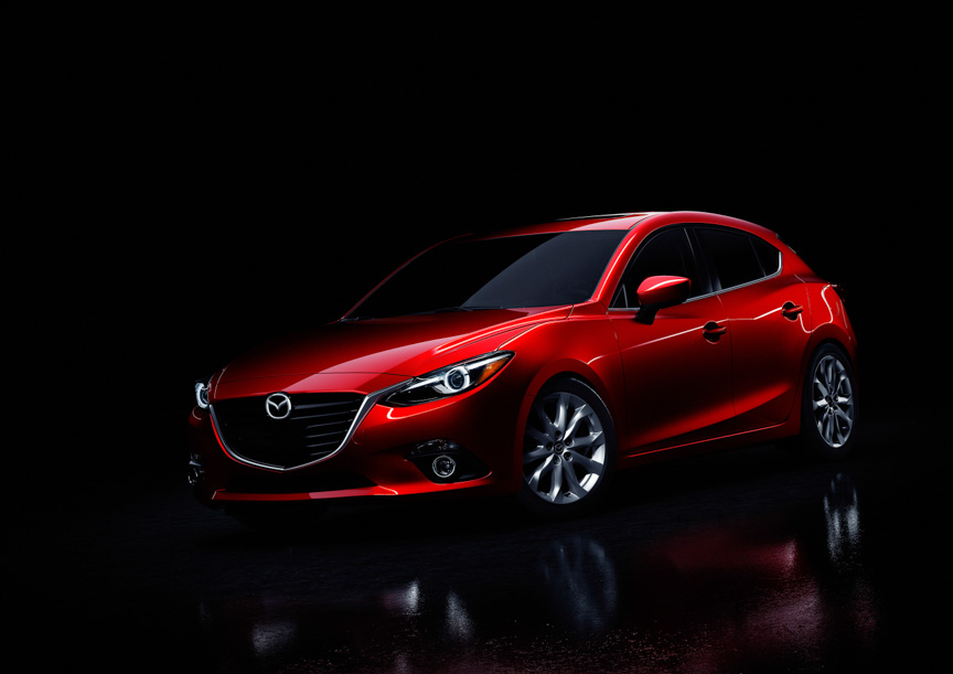 新型「Mazda3(日本名:マツダ アクセラ)」5ドアハッチバックのプロトタイプ車両