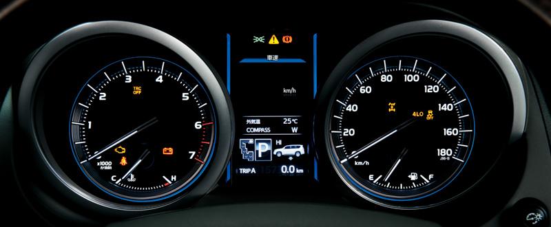 TZ-Gのインパネ。TFTカラーマルチインフォメーションディスプレイを備えるオプティトロンメーターを全車標準装備