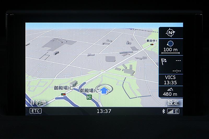 システム内部に持っている地図表示。オフラインでも使える