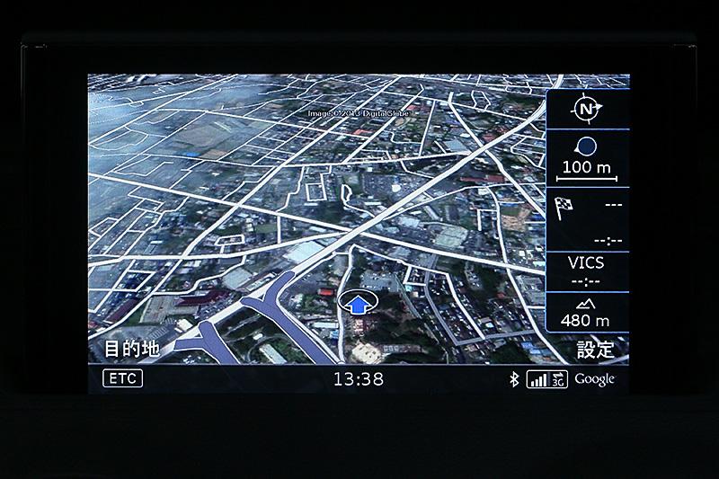 Google Earthに変更して地図表示に戻すと航空写真による地図になる