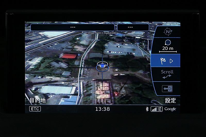ダイヤル上をなぞって地図スクロールが可能