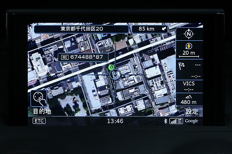 Google Earth表示に切り替えることもできる