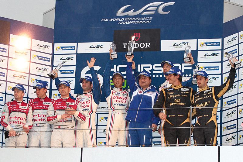 レースは赤旗のまま終了し、トヨタ・レーシングのトヨタ TS030 ハイブリッド 7号車(アレックス・ブルツ/ニコラス・ラピエール/中嶋一貴)が優勝となった