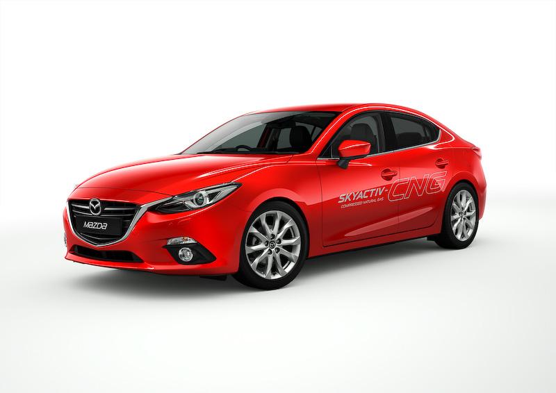 CNG(圧縮天然ガス)仕様の「Mazda3(日本名:アクセラ) SKYACTIV-CNGコンセプト」を世界初公開