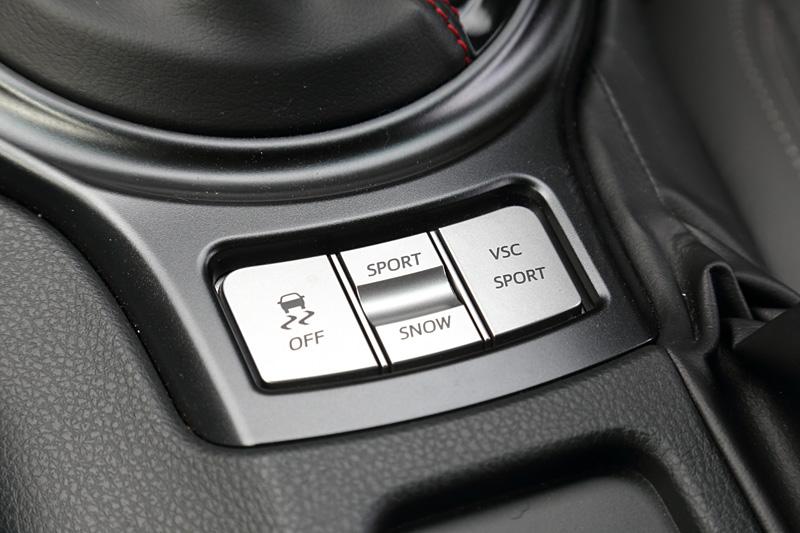 各種走行モードのセレクトスイッチ