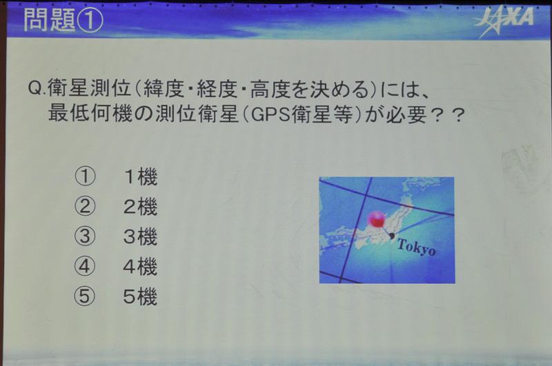 吉川氏は講演の途中にクイズ形式で出題。これは4つの未知数を求める問題のため、4つが正解とのこと