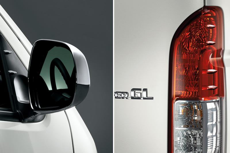 トヨタ独自の空力デバイスである「エアロスタビライジングフィン」がハイエース/レジアスエースにも採用された