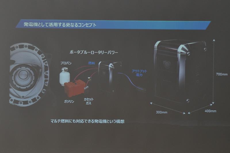 ロータリーエンジンを用いたポータブル発電機