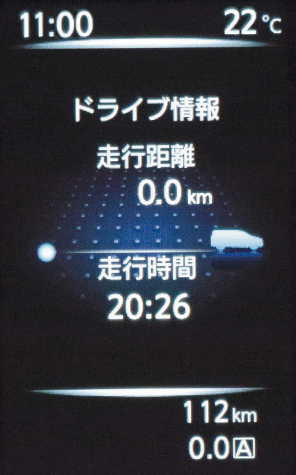 新デザインの2眼式メーターの間に「アドバンスドドライブアシストディスプレイ」を設置。後続可能距離や平均燃費、メンテナンス情報などを表示可能