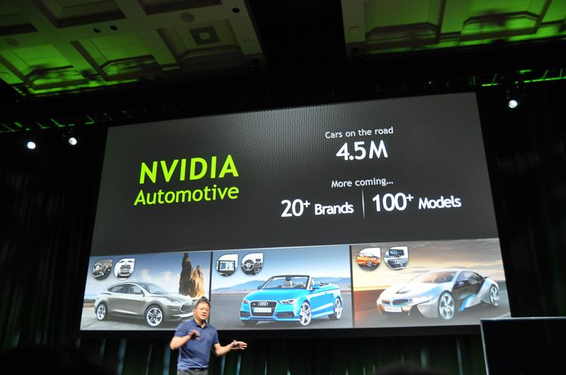 すでに多くのクルマにNVIDIAのソリューションは採用されている