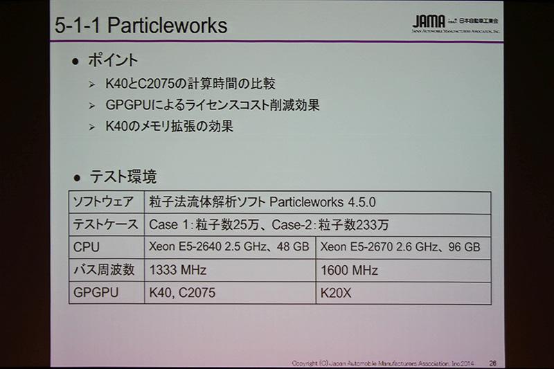 「Particleworks 4.5.0」の使用機材