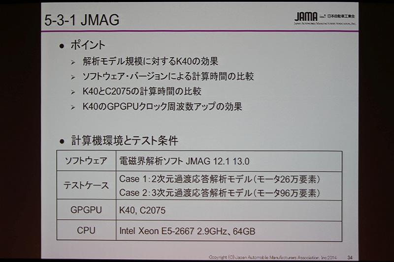 「JMAG」テストの使用機材