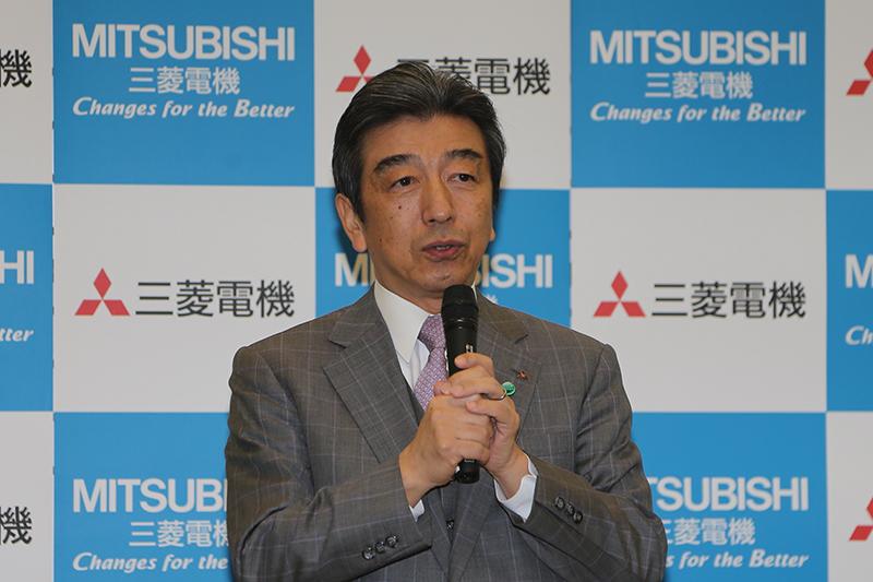 三菱電機 代表執行役 執行役社長の山西健一郎氏