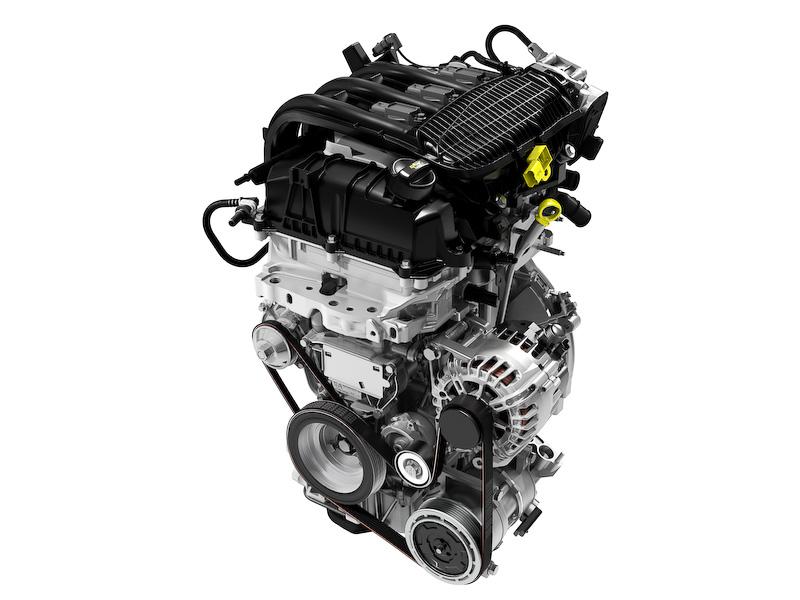 直列3気筒DOHC 1.2リッターエンジン。最高出力は60kW(82PS)/5750rpm、最大トルクは118Nm(12.0kgm)/2750rpm