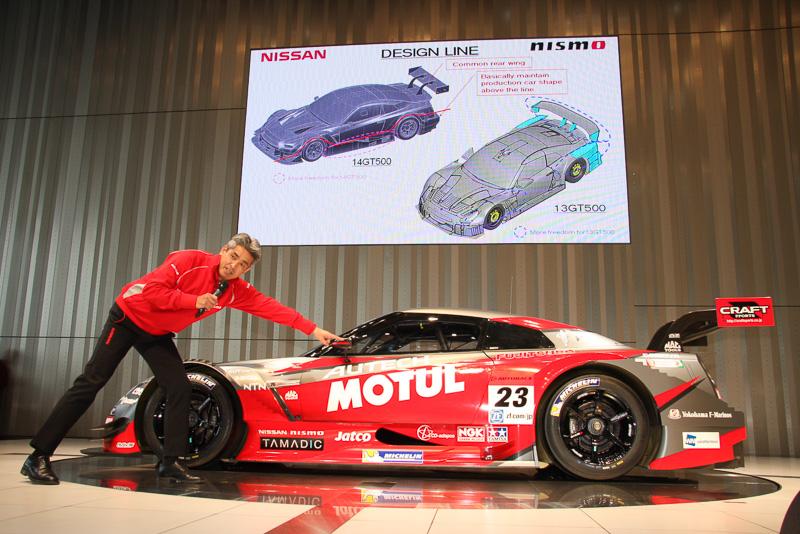 詳細な車両の解説は、NISMOチームの監督であり、車両デザインも担当している鈴木豊氏