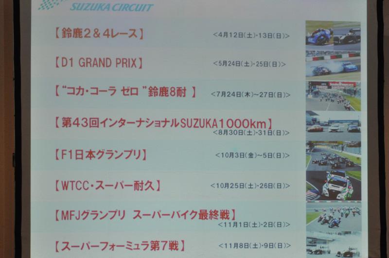 鈴鹿サーキットで開催される主なイベント