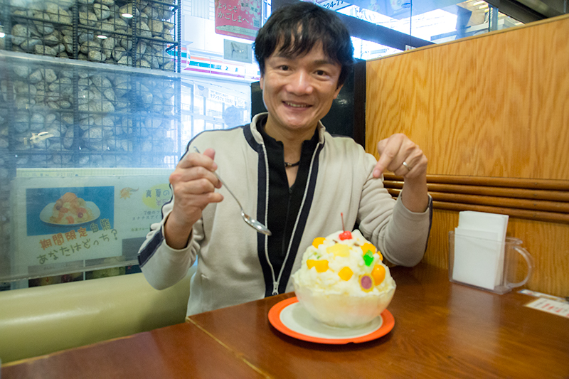 岡本幸一郎、氷白熊食べます