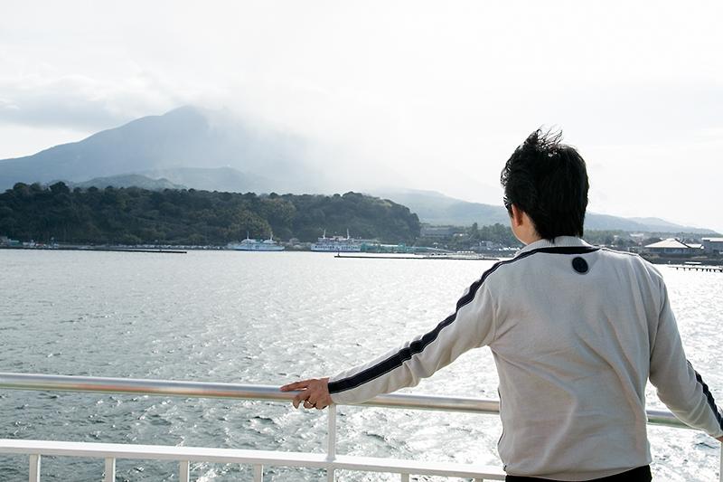 風はちょっと強かったが視程がよく、桜島をバッチリ見ることができる
