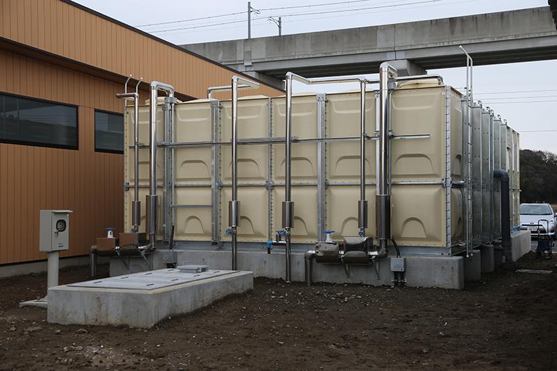 断水に備えた井戸も設置。普段はトイレ洗浄用にも使う予定で、将来は浄水器を設置して飲料用としても使用するという