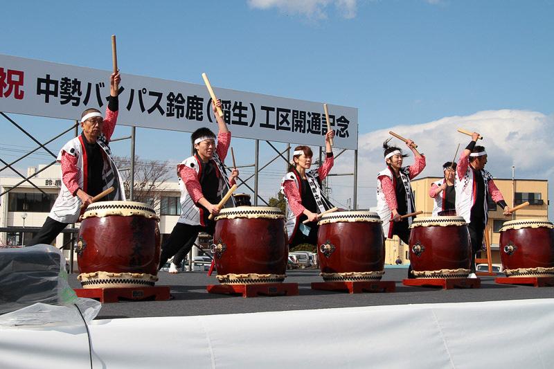 鈴鹿太鼓の演奏