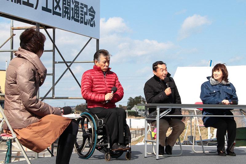 中嶋悟氏、伊藤智也氏、末松則子鈴鹿市長によるトークショー