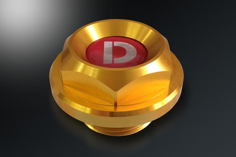 D-SPORT オイルフィラーキャップIIはM30×P3.0mmのMサイズ、M37×P3.0mmのLサイズの2種類を用意
