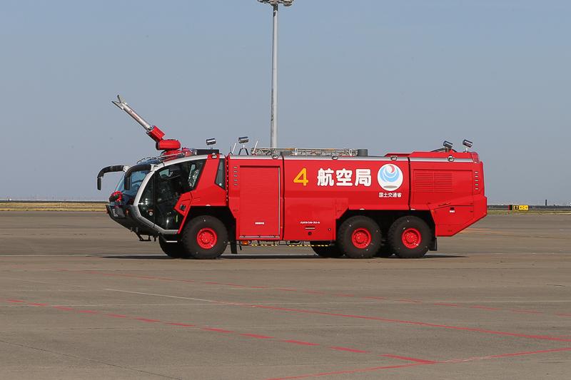 放水を行った消防車