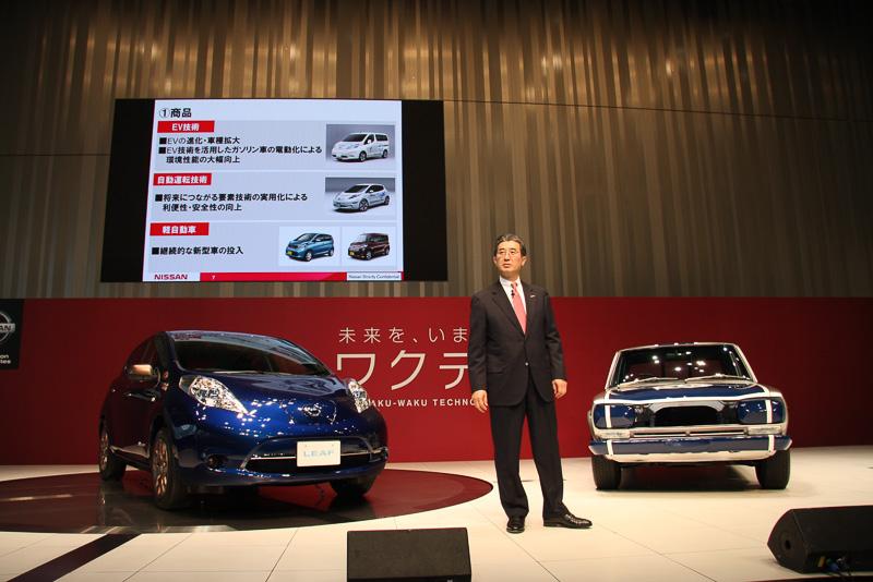 商用EVのe-NV200のほか、好調の軽自動車も引き続き新型車を市場投入する