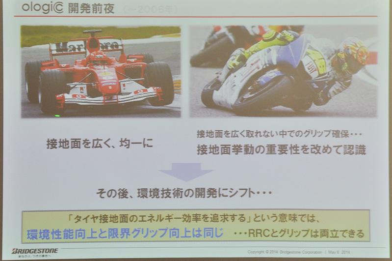 オロジックの開発はモータースポーツ用タイヤから始まっている