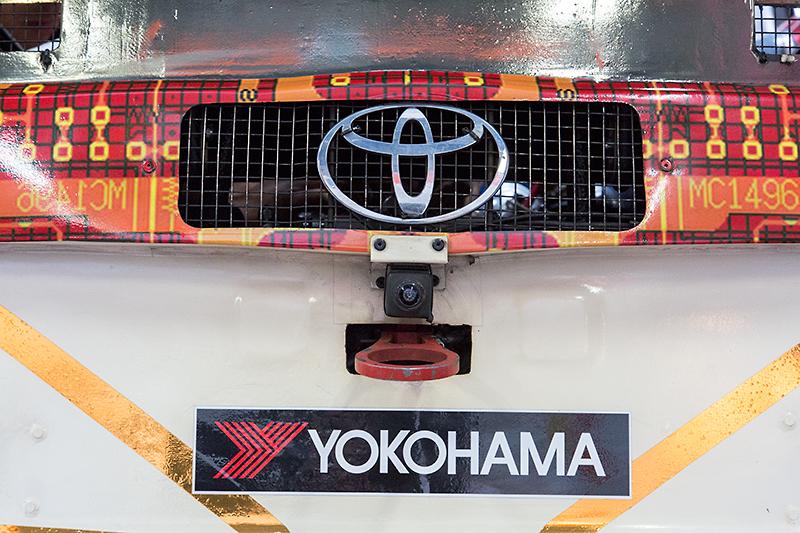 車体前部、後部、側部の4個所にカメラが設置されている