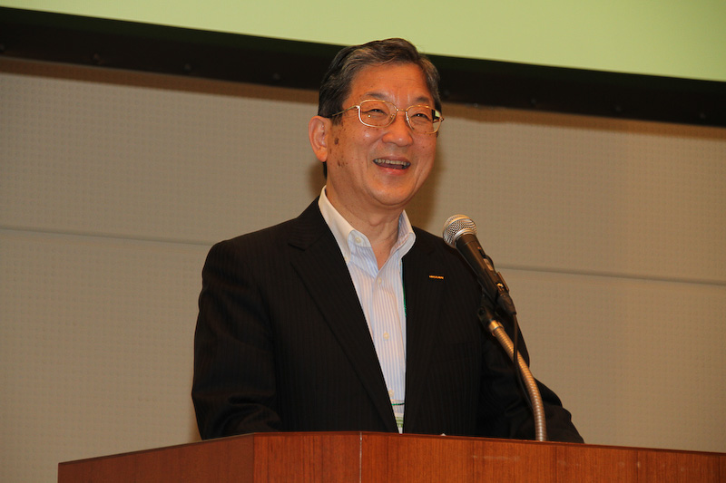 CHAdeMO協議会の志賀俊之会長(日産自動車 副会長)