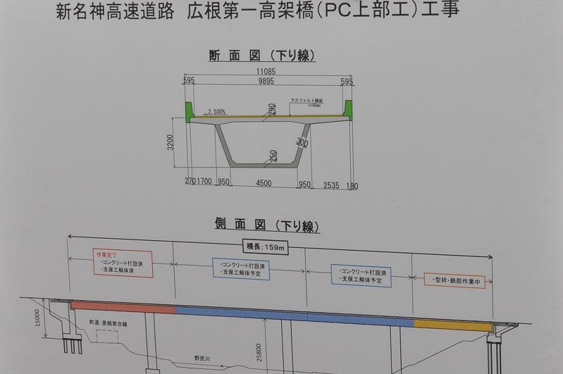 広根第一高架橋の工事図