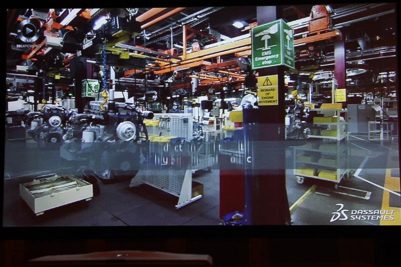 解説ビデオでは、製品の開発から生産、在庫管理など幅広い分野に3Dエクスペリエンス・プラットフォームが使われていることを紹介