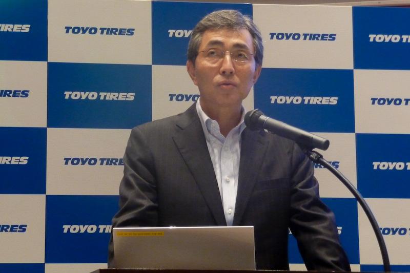 新中期経営計画の概要について説明した信木明代表取締役社長