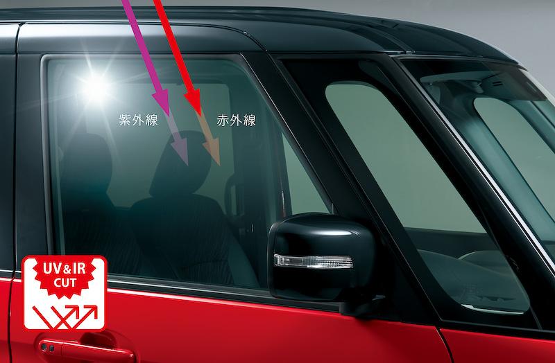紫外線約99%カットと赤外線カットを両立したプレミアムUV&IRカットガラス(フロントドア)