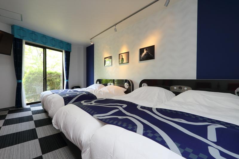 部屋はムードが異なる3種のカラーが用意される