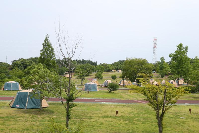 広大な敷地に135ものサイトを有するオートキャンプ場