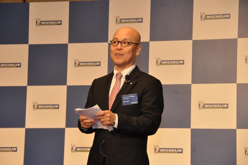 日本でミシュランガイドを担当する日本ミシュランタイヤ 社長室長 森田哲史氏